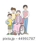 介護 仲良し 車椅子のイラスト 44991787