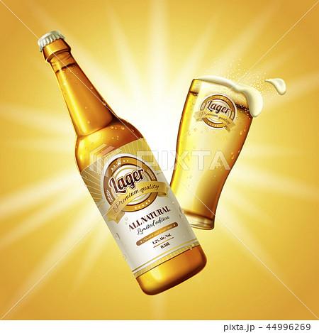 Refreshing lager beer 44996269