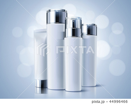 Light blue cosmetic containers 44996466