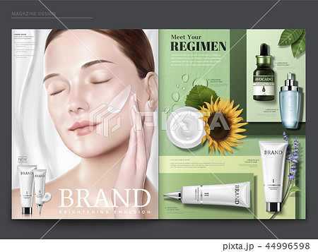 Cosmetic magazine template 44996598