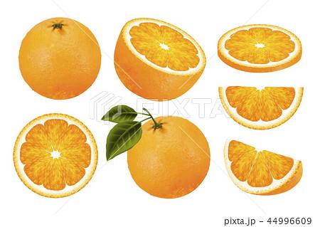 Fresh orange fruit set 44996609