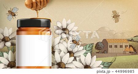 Retro style wildflower honey ads 44996985