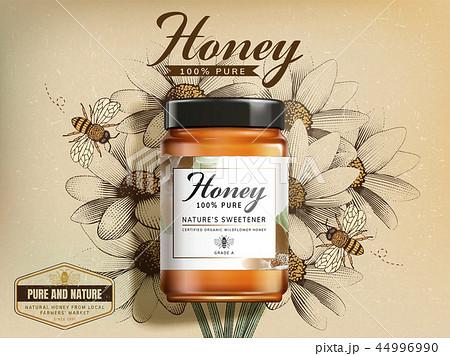 Top view of wildflower honey jar 44996990