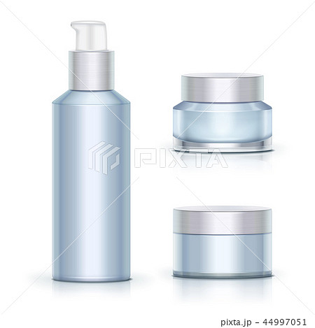 Blank blue skincare containers 44997051