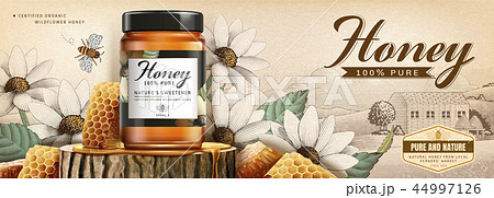 Natural honey skin care banner 44997126