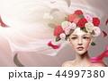 ヴェール 新婦 花嫁のイラスト 44997380