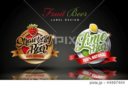 Fruit beer label design 44997404