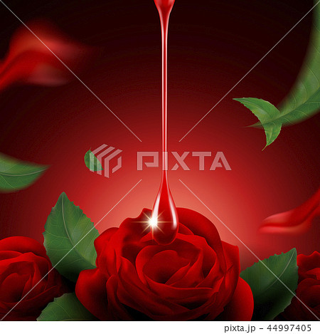 Romantic red rose background 44997405