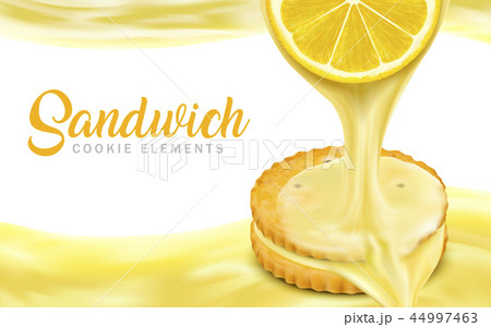 Lemon sandwich cookies elements 44997463