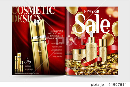 Cosmetic magazine template 44997614