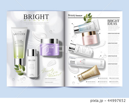 Cosmetic magazine template 44997652