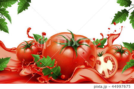 Fresh tomatoes with juice 44997675