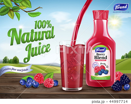 Natural berry blend juice ads 44997714