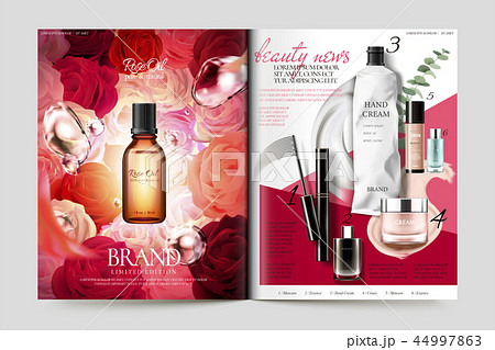 Cosmetic magazine template 44997863