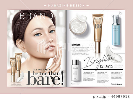 Skin care magazine template 44997918