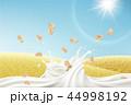 ブルースカイ 青空 穀物のイラスト 44998192
