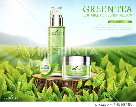 Green tea skincare ads 44998480