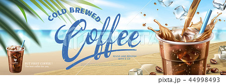 Cold brewed coffee banner ads 44998493