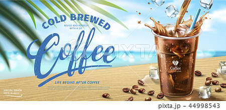 Cold brewed coffee banner ads 44998543
