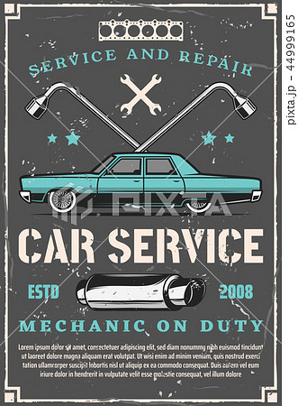 Vintage car auto repair and tuning service 44999165