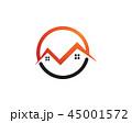 シンボルマーク ベクトル 住宅のイラスト 45001572