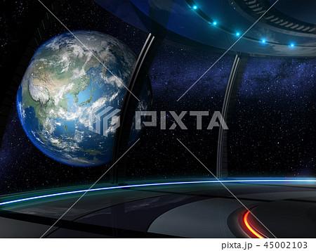 宇宙ステーションからの眺め 地球 45002103