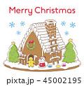 クリスマス サンタクロース メリークリスマスのイラスト 45002195