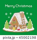 クリスマス サンタクロース メリークリスマスのイラスト 45002198