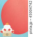 正月 初日の出 和柄のイラスト 45004742
