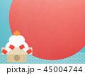 正月 初日の出 和柄のイラスト 45004744