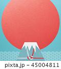 富士山 ご来光 正月のイラスト 45004811