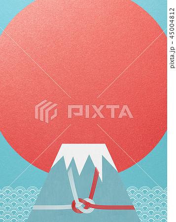和-和風-和柄-背景-富士山-日の出-正月 45004812