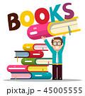 ライブラリ ブック 書籍のイラスト 45005555