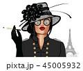 女 女の人 女性のイラスト 45005932