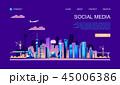 都市 ベクトル 航空機のイラスト 45006386