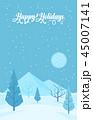 ウィンター ウインター 冬のイラスト 45007141