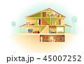 ベクトル 住宅 住居のイラスト 45007252