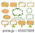 蔦 看板 木製のイラスト 45007809