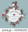 花 ベクター 鳥のイラスト 45008292