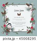 フローラル 花 ベクターのイラスト 45008295