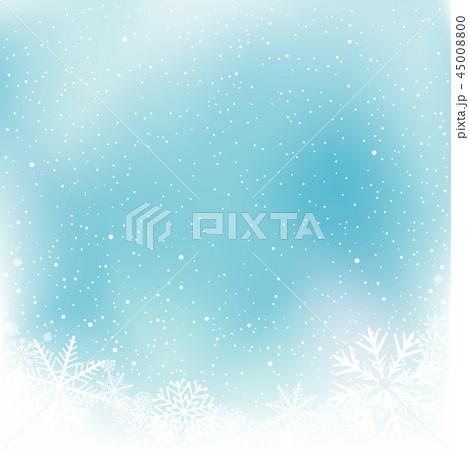 christmas blue snow winter templateのイラスト素材 45008800 pixta