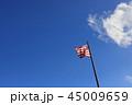 青空と風になびくアメリカの国旗 星条旗 45009659
