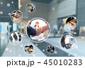 ビジネス ネットワーク コネクションの写真 45010283