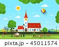都市 聖堂 景色のイラスト 45011574