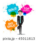 Businessman with Sale, Top Product Splashes 45011613