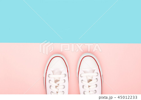 Sneakers on the multicolor background 45012233