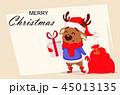 クリスマス となかい トナカイのイラスト 45013135