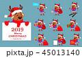 クリスマス となかい トナカイのイラスト 45013140