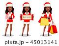 クリスマス 女 女性のイラスト 45013141