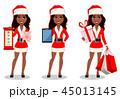 クリスマス 女 女性のイラスト 45013145
